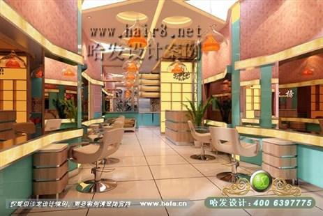 江苏省扬州市多元化风格美发店装修案例