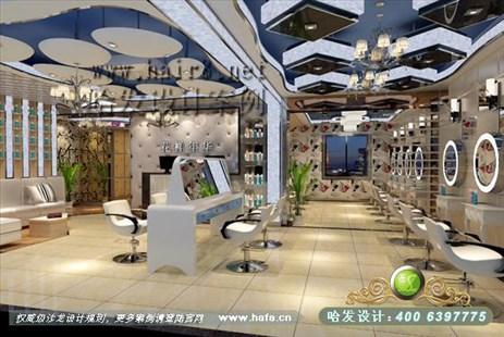 安徽省宣城市新欧式与新现代之混搭美发店装修案例