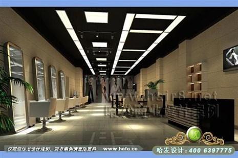 安徽省滁州市现代简约风格美发店装修设计案例