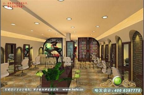 浙江省温州市异域风情风格美发店装修设计案例 发廊