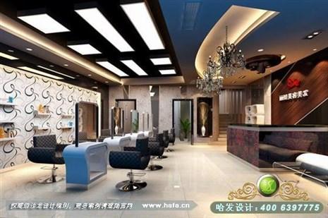 山东省临沂市高档连锁美发店设计装修案例