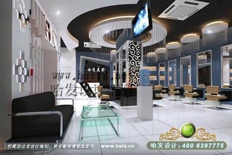 北京演绎旖旎黑白风格美发店装修案例